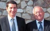 David Lisnard (à g.), premier adjoint au maire, délégué aux cultes, et Bernard Brochand, député-maire de Cannes. © France Keyser
