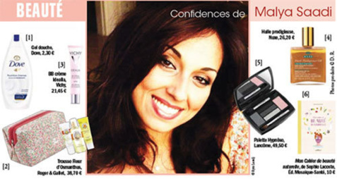 Confidences de Malya Saadi